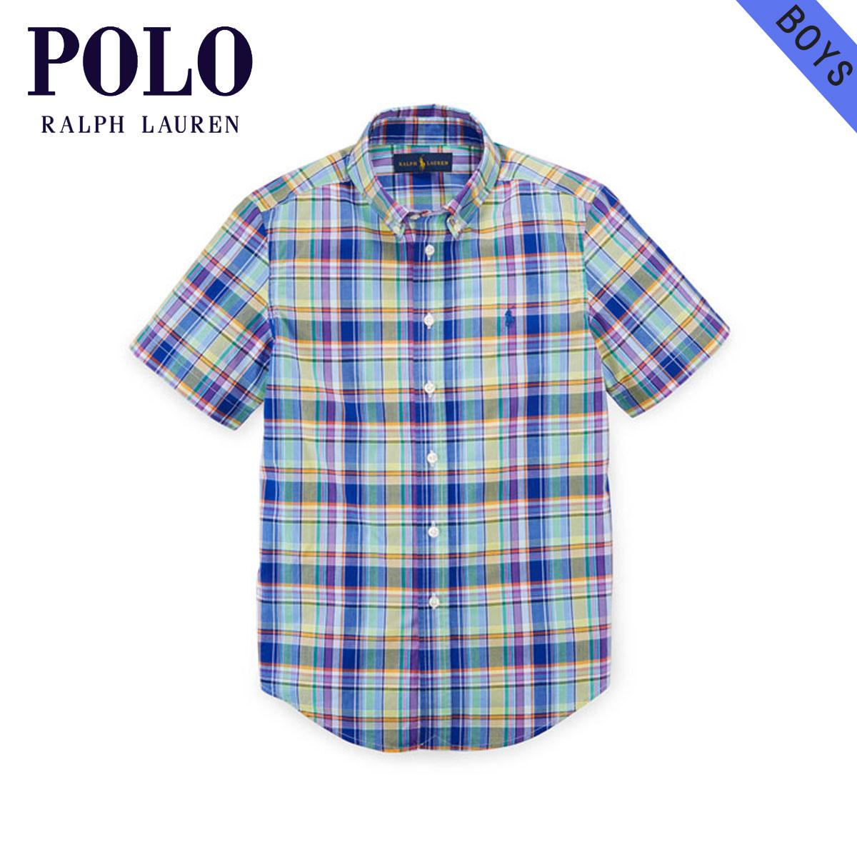 Shirt 85653736 Children's Ralph Article Polo Plaid Boys Sleeves Children Regular Short Cotton Clothes Poplin Lauren Kids u1JKc3Tl5F