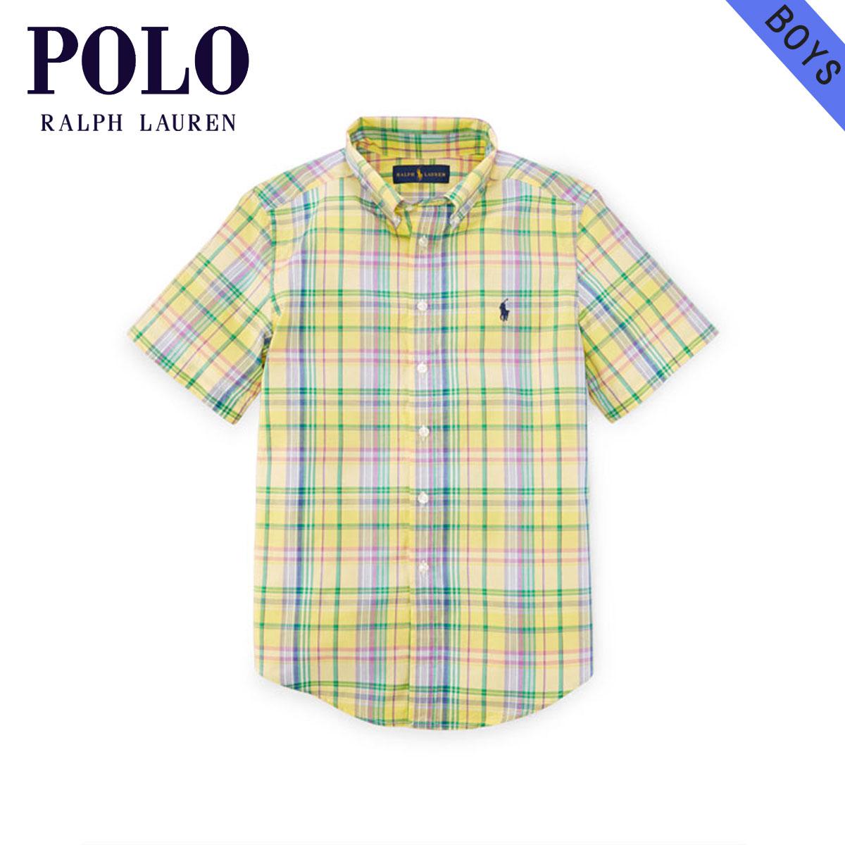 Regular Article Poplin Sleeves Shirt Clothes Lauren Children's Short Kids Plaid Boys Ralph 85653736 Cotton Polo Children 2YIWDH9E