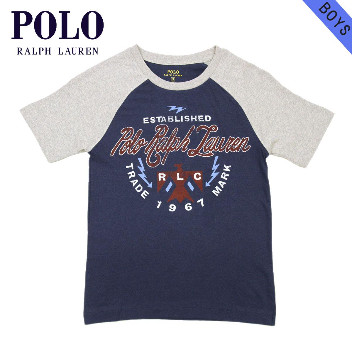 ポロ ラルフローレン キッズ Tシャツ 子供服 正規品 POLO RALPH LAUREN CHILDREN 半袖Tシャツ COTTON GRAPHIC S/S CREW TEE 323607924001