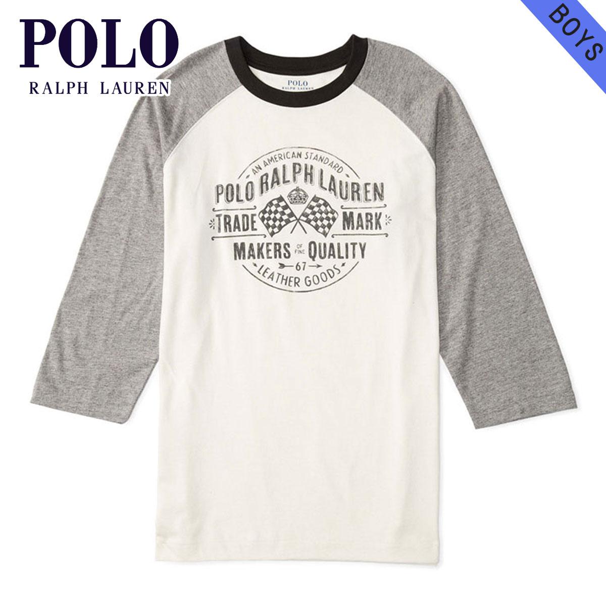 8a762f0c1425 20%OFF sale polo Ralph Lauren kids POLO RALPH LAUREN CHILDREN regular  article children s clothes Boys long sleeves T-shirt COTTON GRAPHIC  BASEBALL TEE ...