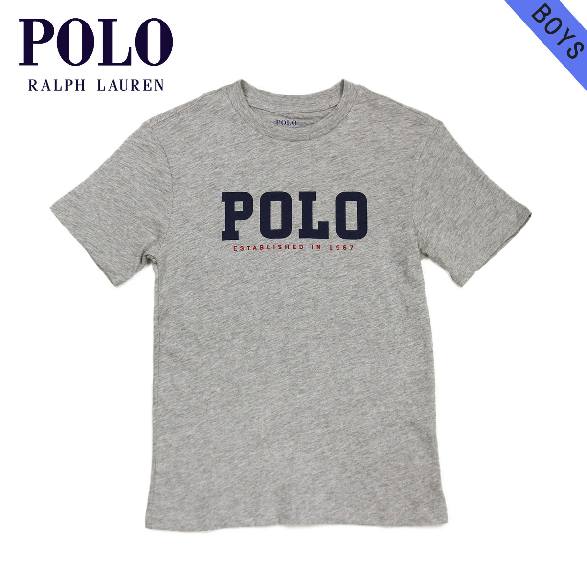 c53560cd6a Polo Ralph Lauren kids POLO RALPH LAUREN CHILDREN regular article  children's clothes Boys short sleeves logo T-shirt Slub Cotton Jersey  Graphic Tee