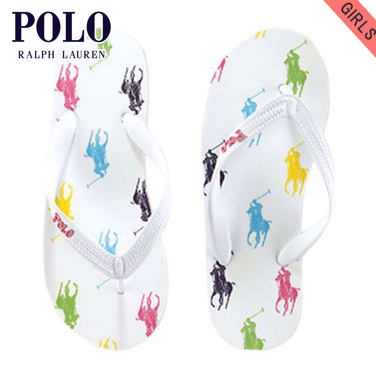 5c3f841c28 POLO RALPH LAUREN CHILDREN polo Ralph Lauren kids regular article children s  clothes girls sandals Amino Flip-Flop  16512226