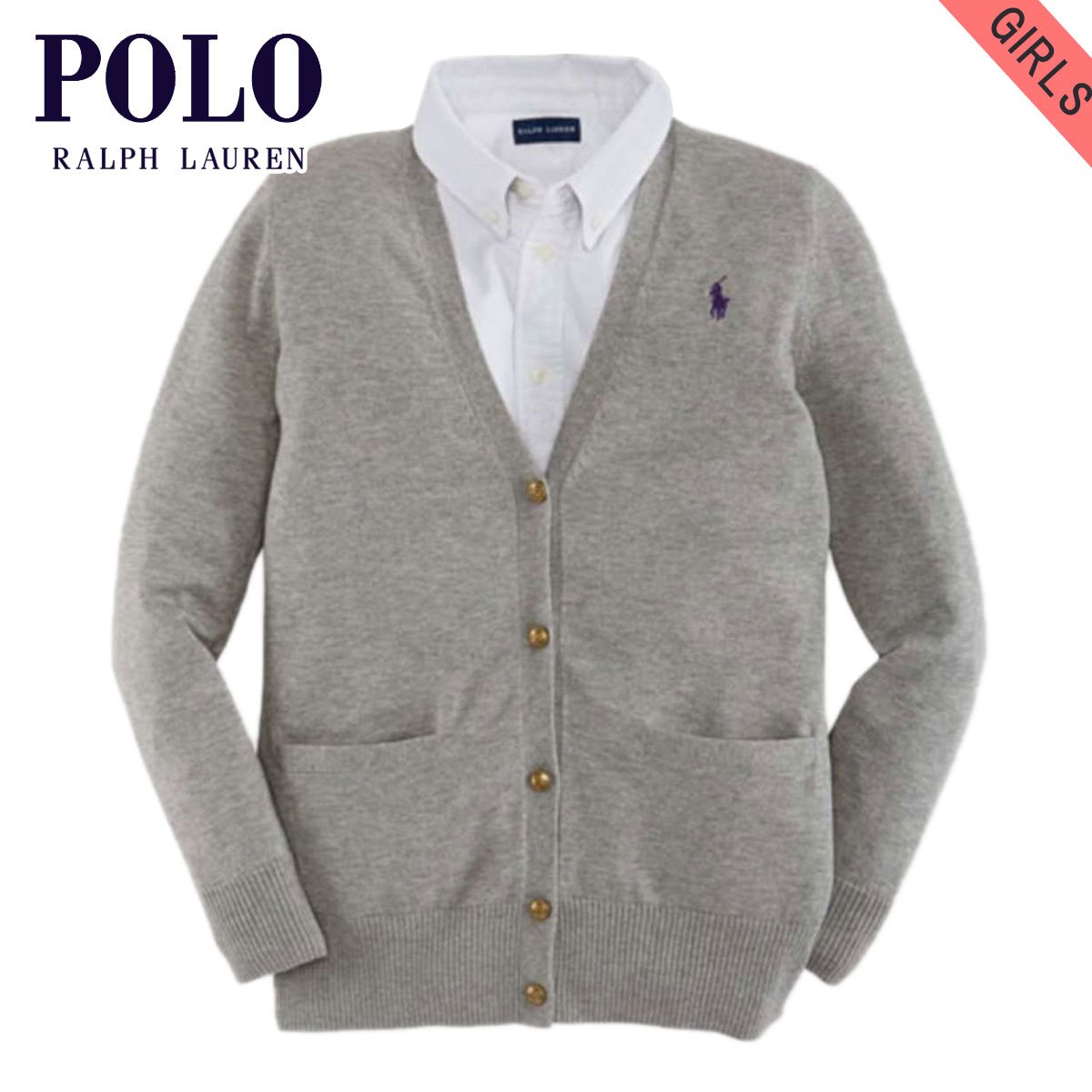 85305be3290 Poloralflorenkids POLO RALPH LAUREN CHILDREN genuine kids clothing girls  Cardigan SLOUCHY COTTON CARDIGAN 40925776