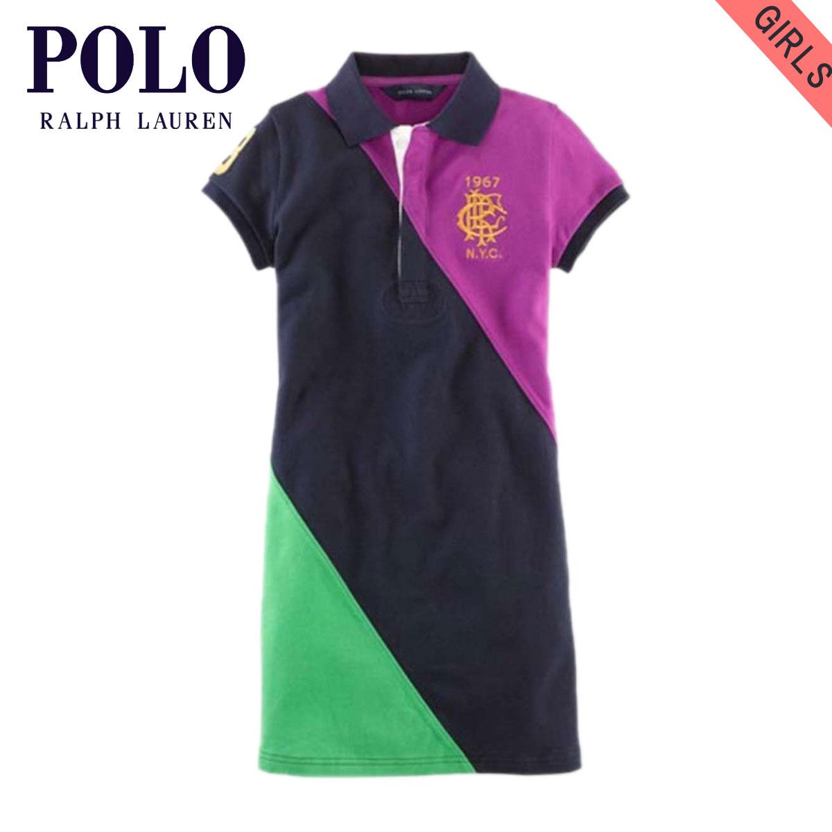 32877c5e0bd6 Poloralflorenkids POLO RALPH LAUREN CHILDREN genuine kids clothing girls  Polo COLOR-BLOCKED POLO DRESS 51439246