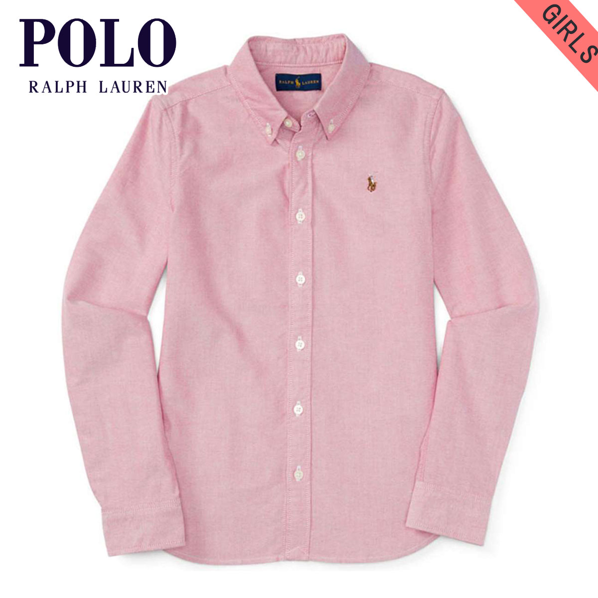 5b37ddd65 Polo Ralph Lauren kids POLO RALPH LAUREN CHILDREN regular article children's  clothes girls long sleeves shirt ...