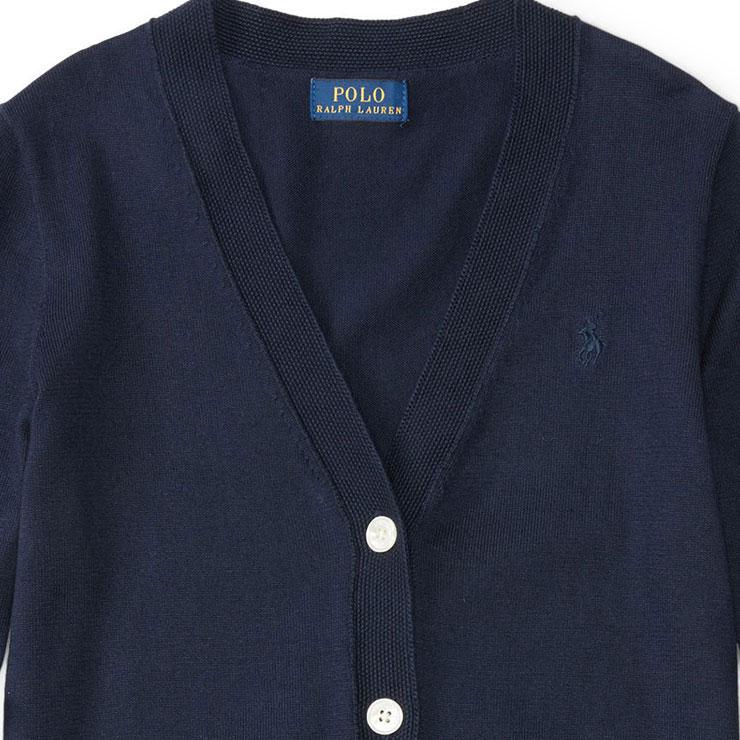 cd940e21a4a37 Polo Ralph Lauren kids sweater girls children's clothes regular article  POLO RALPH LAUREN CHILDREN cardigan PIMA COTTON CARDIGAN 99493806 D00S20