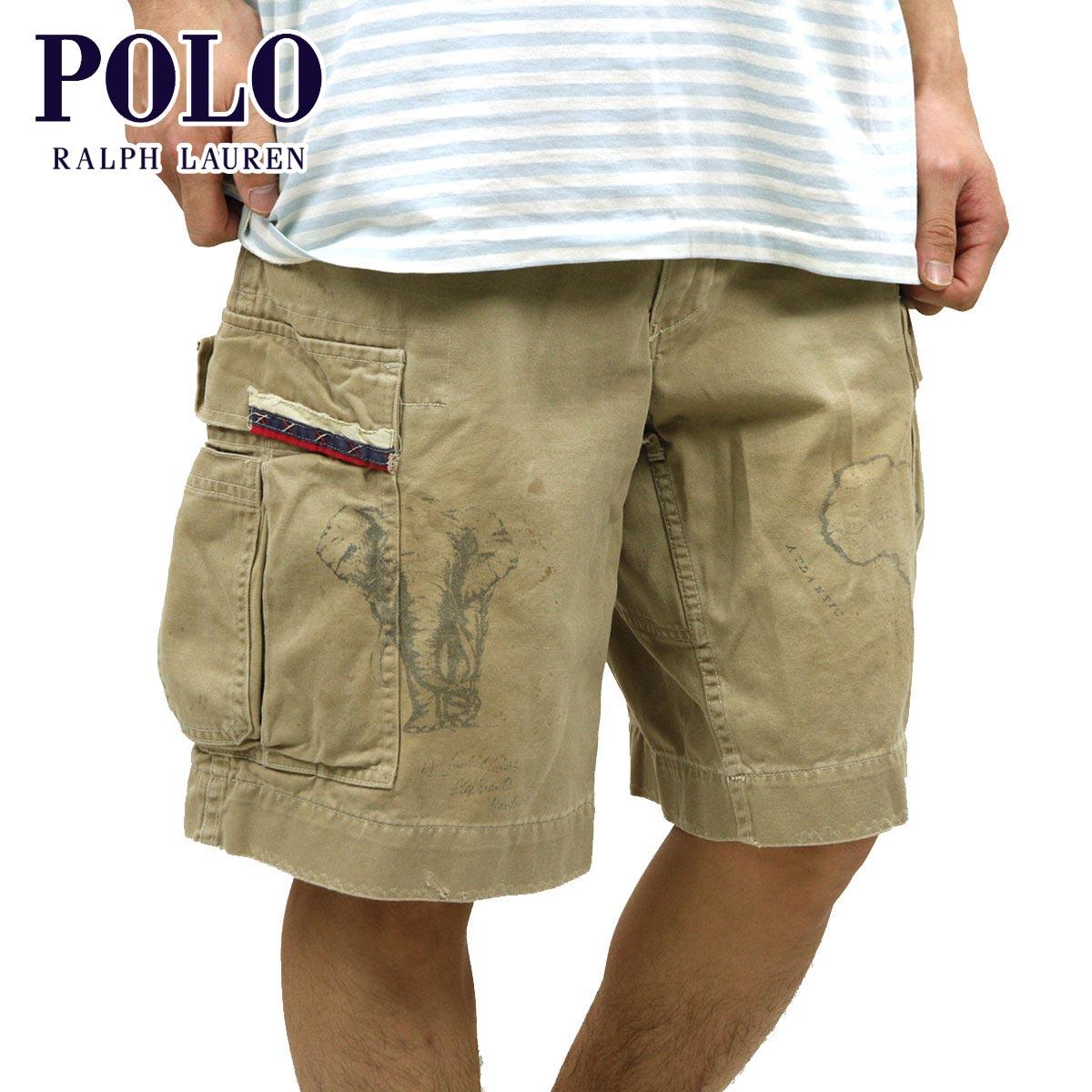 【販売期間 4/2 10:00~4/8 09:59】 ポロ ラルフローレン POLO RALPH LAUREN 正規品 メンズ ショートパンツ SHORT PANTS カーキ D20S30