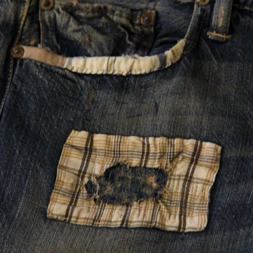 Polo Ralph Lauren POLO RALPH LAUREN genuine men's slim jeans Slim Patchwork Vintage Denim
