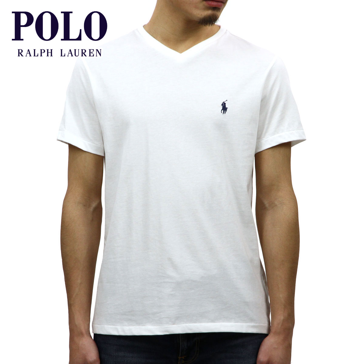 9ab4d7a3e Rakuten Ichiba shop MIXON: Polo Ralph Lauren POLO RALPH LAUREN regular  article men short sleeves V neck T-shirt SHORT-SLEEVED V-NECK TEE WHITE |  Rakuten ...