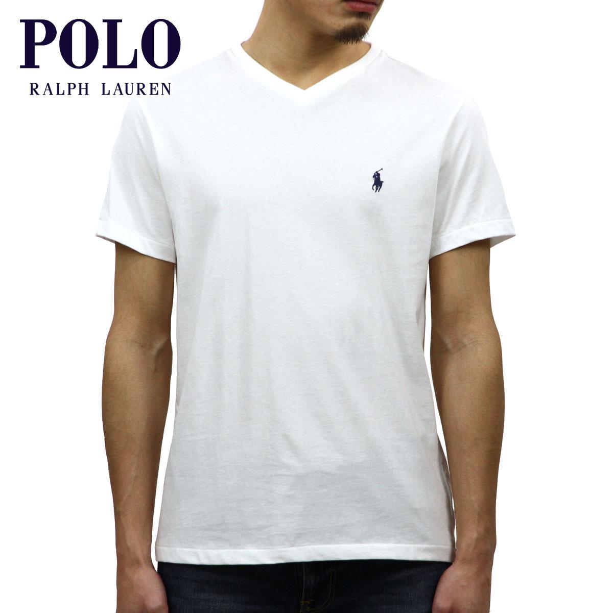 cbfdb9dc71 Polo Ralph Lauren T-shirt regular article POLO RALPH LAUREN short sleeves  T-shirt V neck T-shirt shirt SHORT-SLEEVED V-NECK TEE WHITE