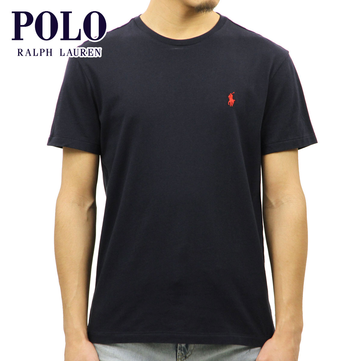 Rakuten Ichiba shop MIXON  Polo Ralph Lauren POLO RALPH LAUREN genuine mens short  sleeve T Shirt Short-Sleeved Tee Navy 10P10Jan15  028b2f2f6