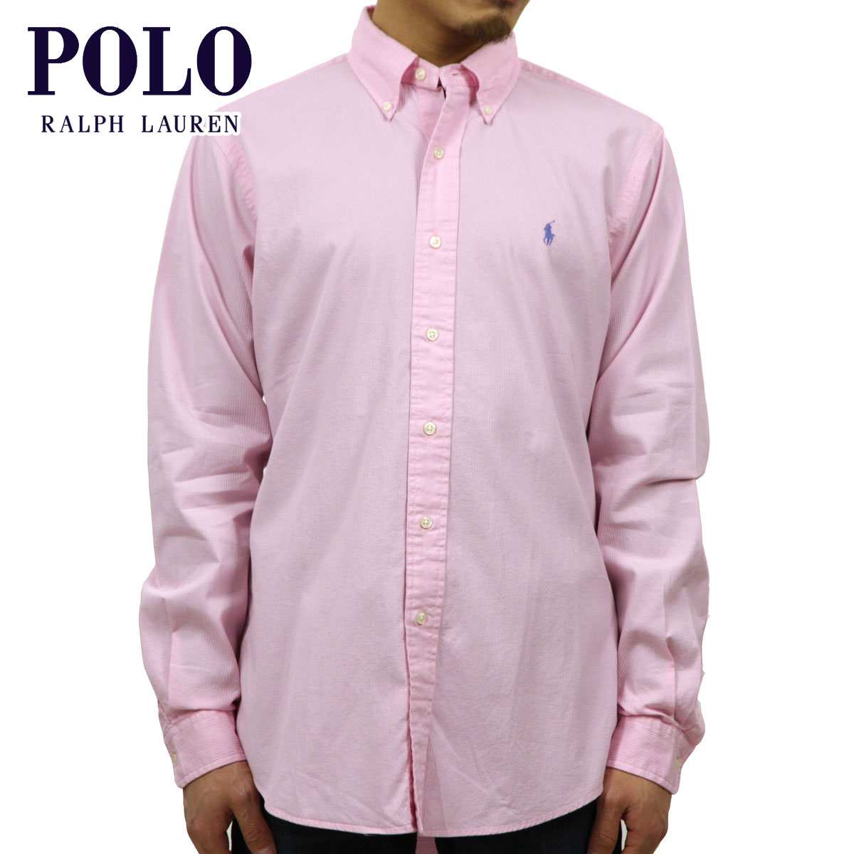 145170b584155 Rakuten Ichiba shop MIXON  Polo Ralph Lauren POLO RALPH LAUREN regular  article men long sleeves button-down shirt SEERSUCKER L S SHIRT PINK  10P21Aug14 ...