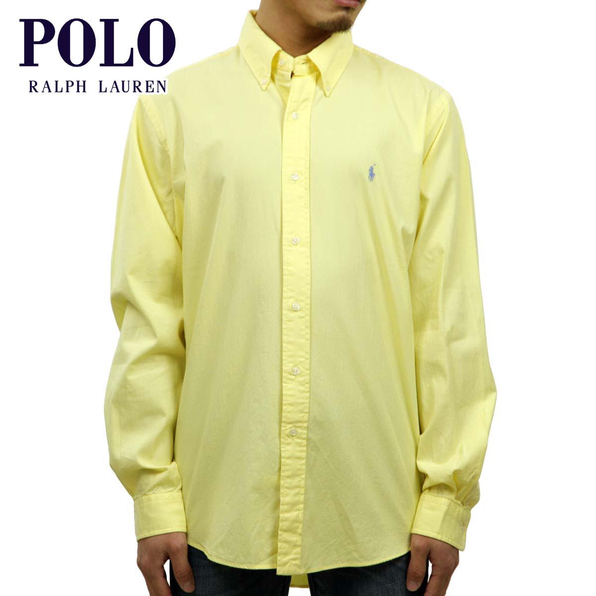 ポロ ラルフローレン POLO RALPH LAUREN 正規品 メンズ 長袖ボタンダウンシャツ SEERSUCKER L/S SHIRT YELLOW D20S30