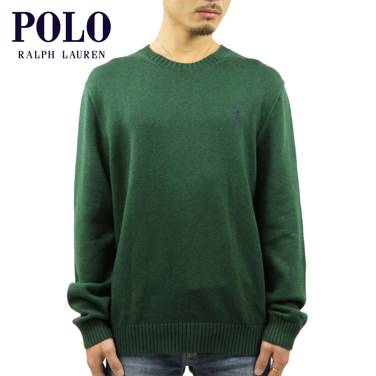 ポロ ラルフローレン POLO RALPH LAUREN 正規品 メンズ セーター COTTON CREW SWEATER GREEN D00S20