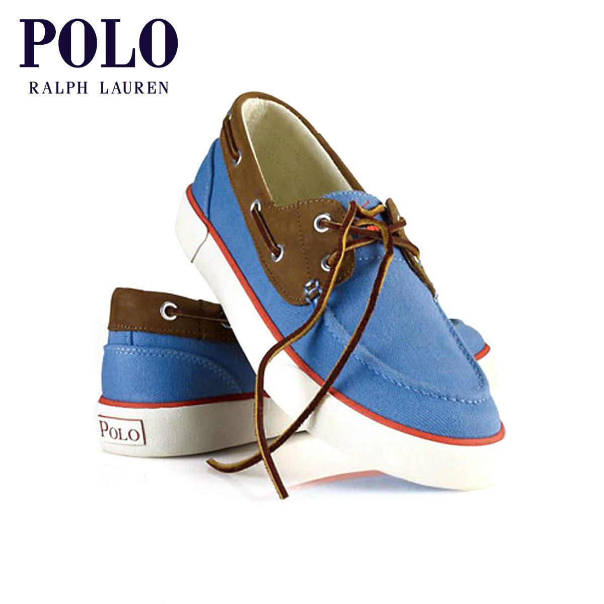 【販売期間 5/4 10:00~5/7 09:59】 ポロ ラルフローレン POLO RALPH LAUREN 正規品 メンズ キャンパスデッキシューズ Rylander Canvas Boat Shoe BLUE D20S30