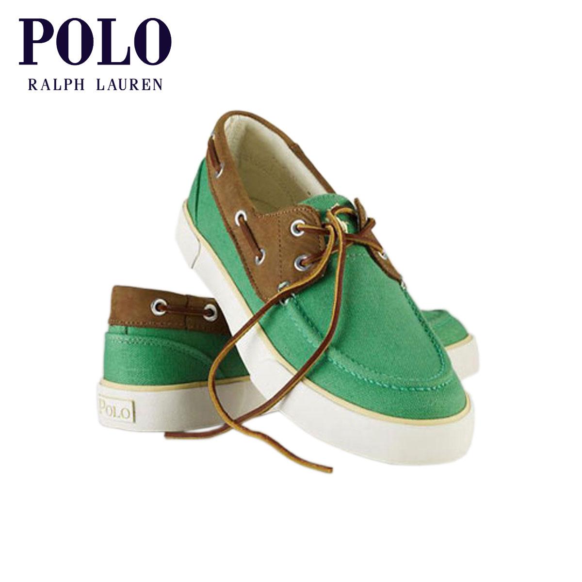 ポロ ラルフローレン POLO RALPH LAUREN 正規品 メンズ キャンパスデッキシューズ Rylander Canvas Boat Shoe GREEN D20S30