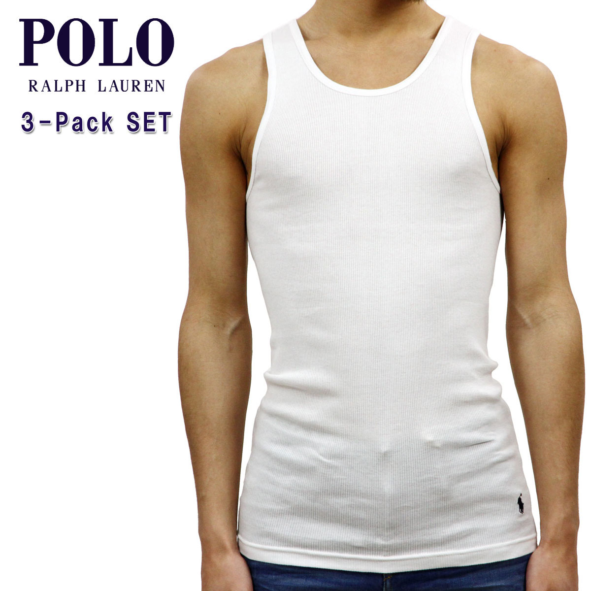 2b7981ec76 Polo Ralph Lauren POLO RALPH LAUREN regular article men underwear tank top  CLASSIC TANK 3-PACK WHITE