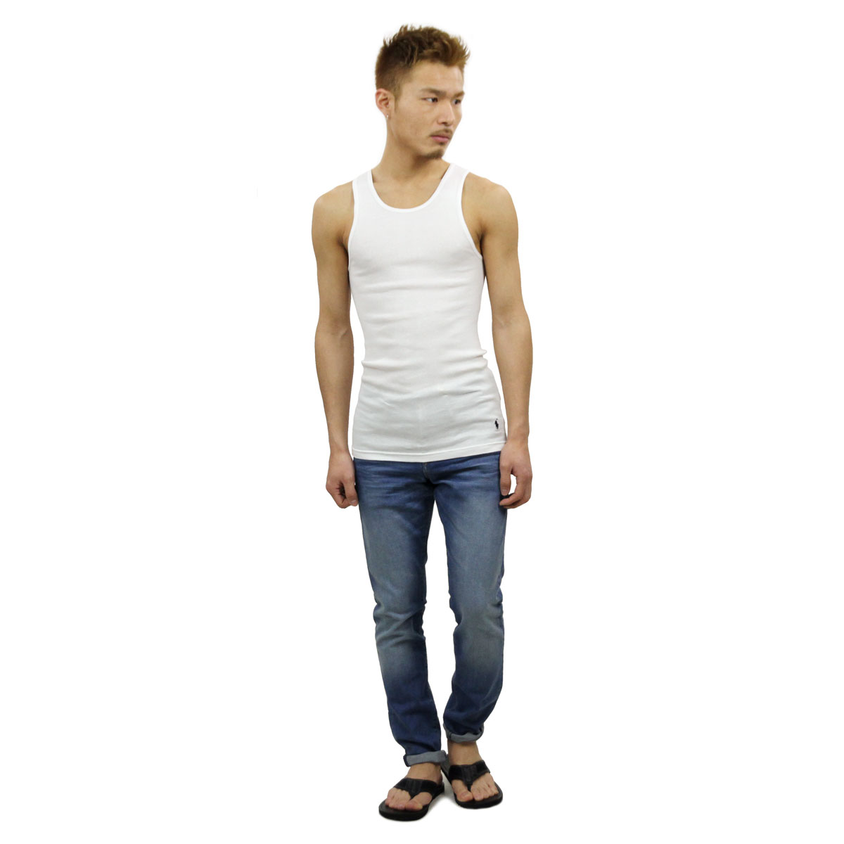 Men Tank Polo Underwear Top Ralph 3 Classic Regular White Lauren Pack Article bfvY76gy