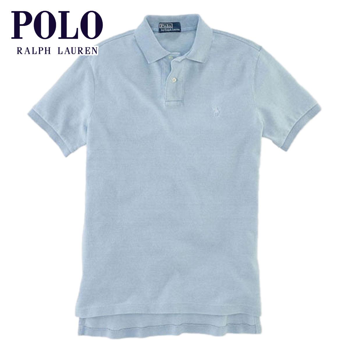 ポロ ラルフローレン POLO RALPH LAUREN 正規品 メンズ ポロシャツ Custom-Fit Indigo Polo LIGHT BLUE D20S30