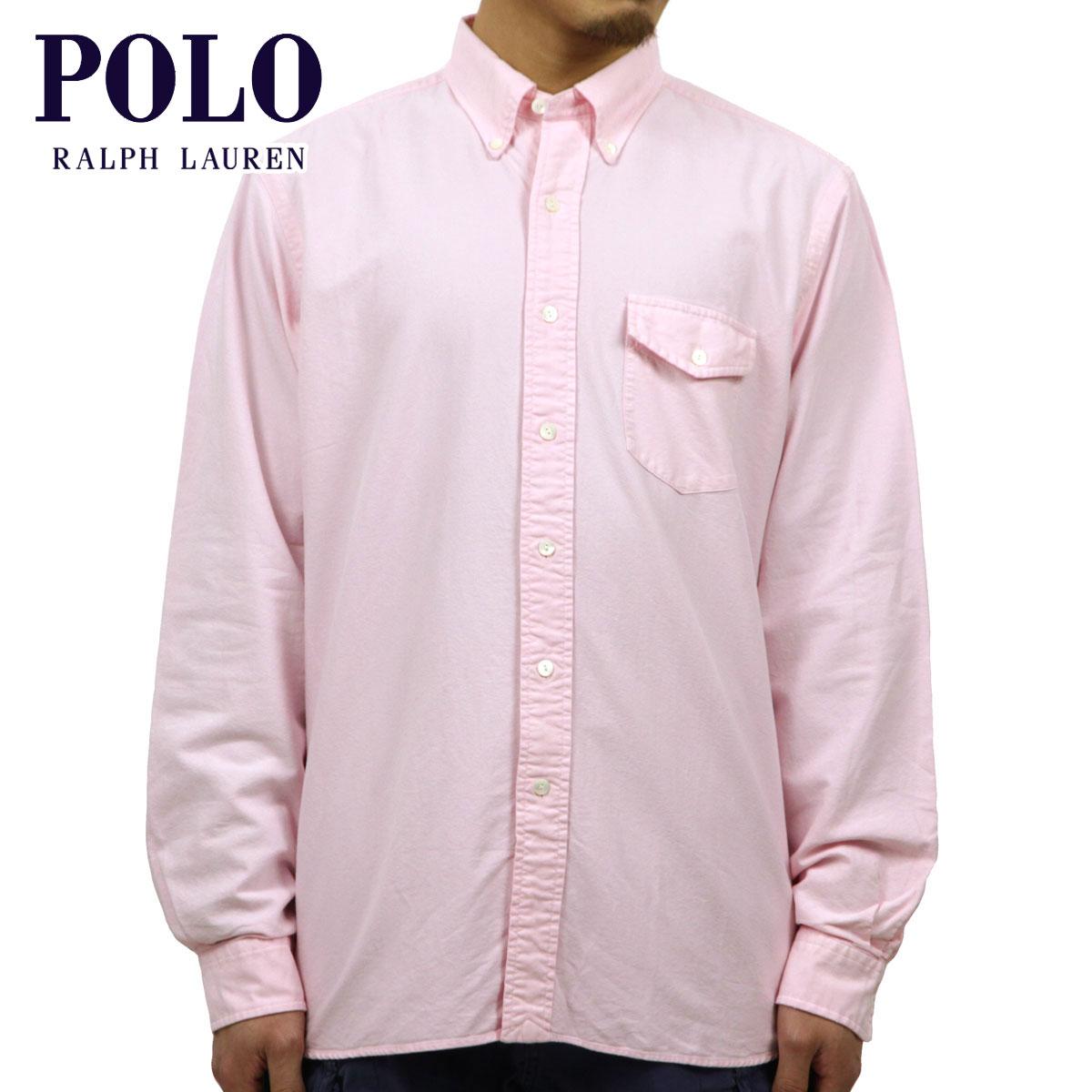 ポロ ラルフローレン シャツ メンズ 正規品 POLO RALPH LAUREN 長袖シャツ Custom-Fit Sun-Washed Oxford PINK