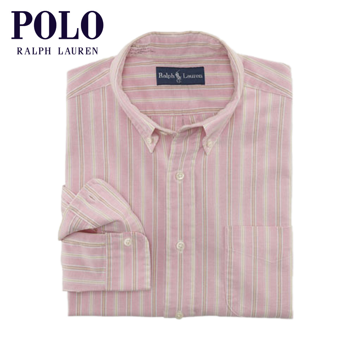 830abd746 Polo Ralph Lauren POLO RALPH LAUREN regular article men long sleeves shirt  Classic-Fit Striped ...