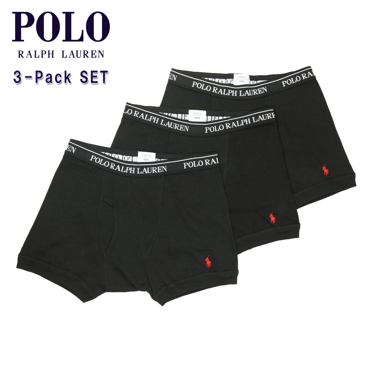 popular stores choose clearance size 7 Polo Ralph Lauren POLO RALPH LAUREN regular article men boxer briefs 3 pack  Boxer Brief 3-Pack 4023369 BLACK