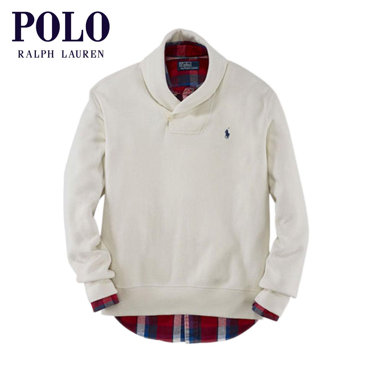 Rakuten Ichiba shop MIXON | Rakuten Global Market: Polo Ralph Lauren POLO  RALPH LAUREN genuine mens search lease Cotton Shawl-Collar Sweater IVORY ...