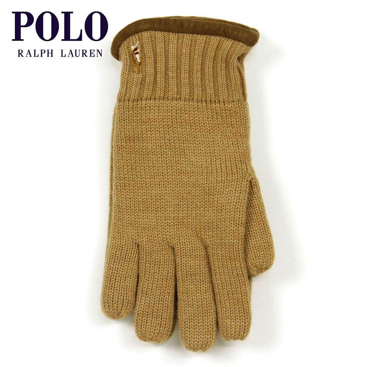 【販売期間 8/10 13:00~8/16 9:59】 ポロ ラルフローレン POLO RALPH LAUREN 正規品 手袋 Classic Merino Gloves KHAKI