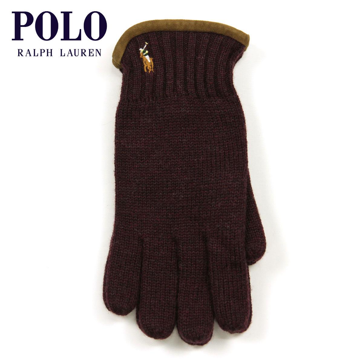 【販売期間 8/10 13:00~8/16 9:59】 ポロ ラルフローレン POLO RALPH LAUREN 正規品 手袋 Classic Merino Gloves BURGUNDY