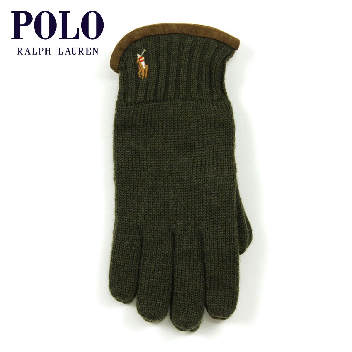 【販売期間 8/10 13:00~8/16 9:59】 ポロ ラルフローレン POLO RALPH LAUREN 正規品 手袋 Classic Merino Gloves OLIVE