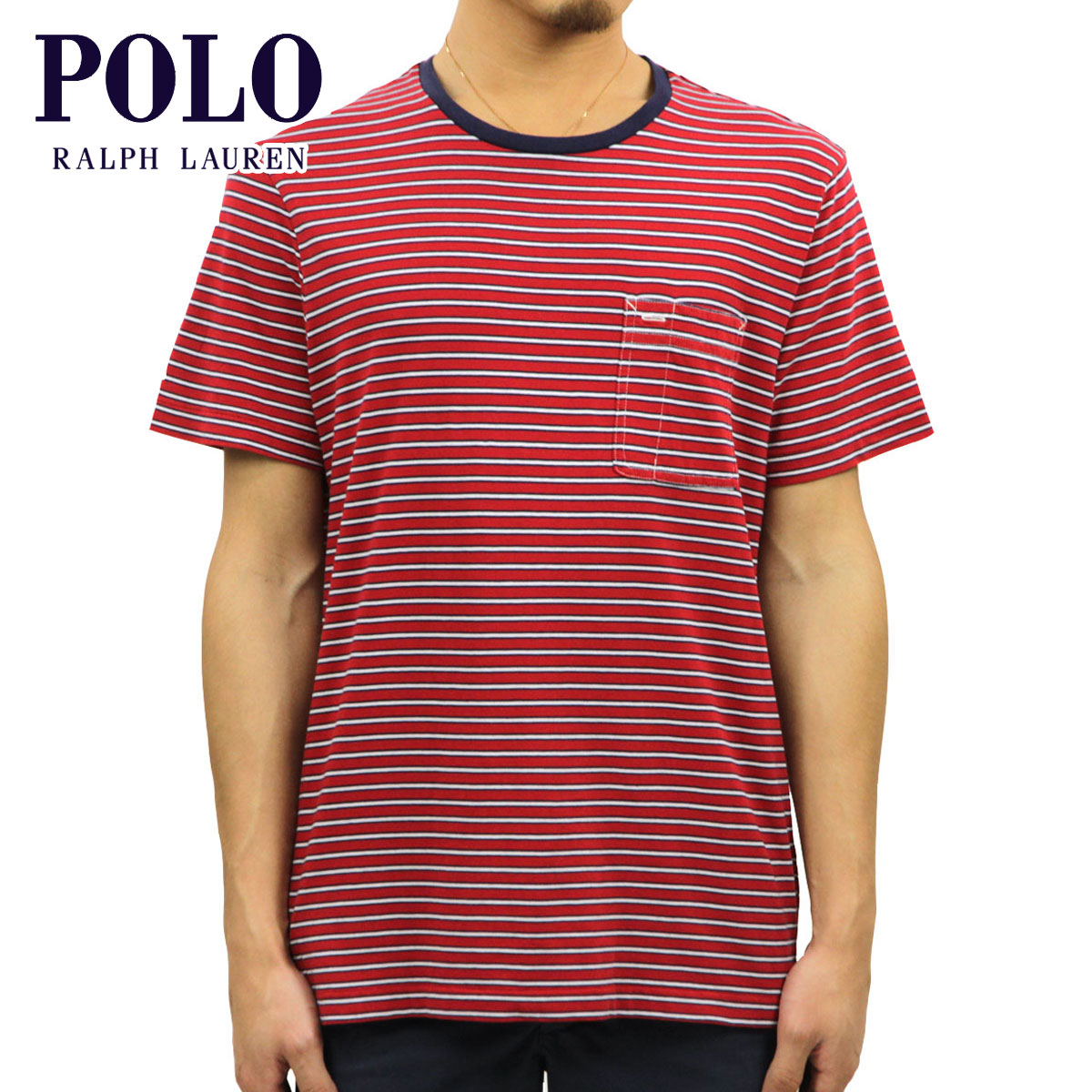 f30a0f8a Rakuten Ichiba shop MIXON: Polo Ralph Lauren POLO RALPH LAUREN regular  article men short sleeves T-shirt Striped Jersey Pocket T-Shirt D20S30 |  Rakuten ...