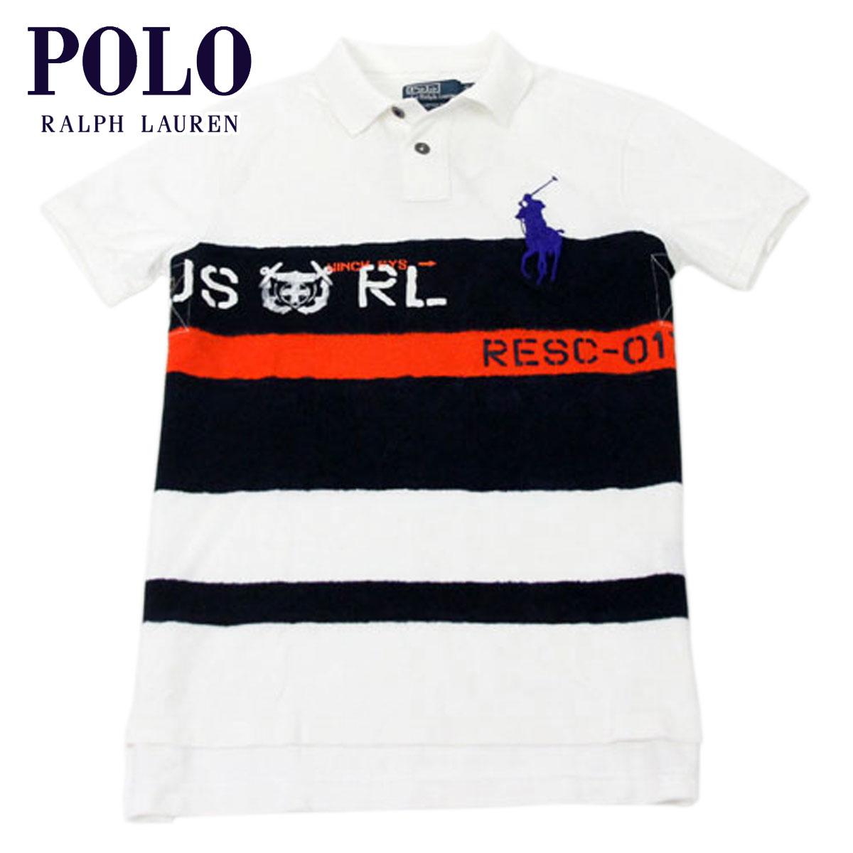 ポロ ラルフローレン POLO RALPH LAUREN 正規品 メンズ ポロシャツ Custom-Fit Big Pony Rescue Striped Polo Shirt D25S35