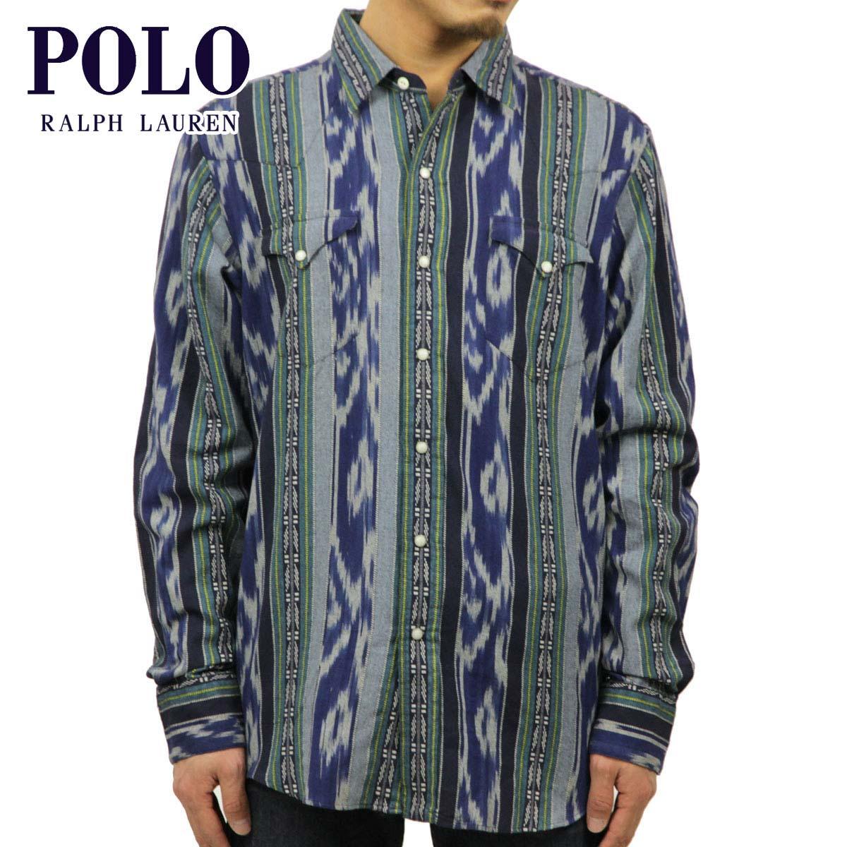 ポロ ラルフローレン POLO RALPH LAUREN 正規品 メンズ 長袖シャツ Custom-Fit Ikat Western Shirt D20S30