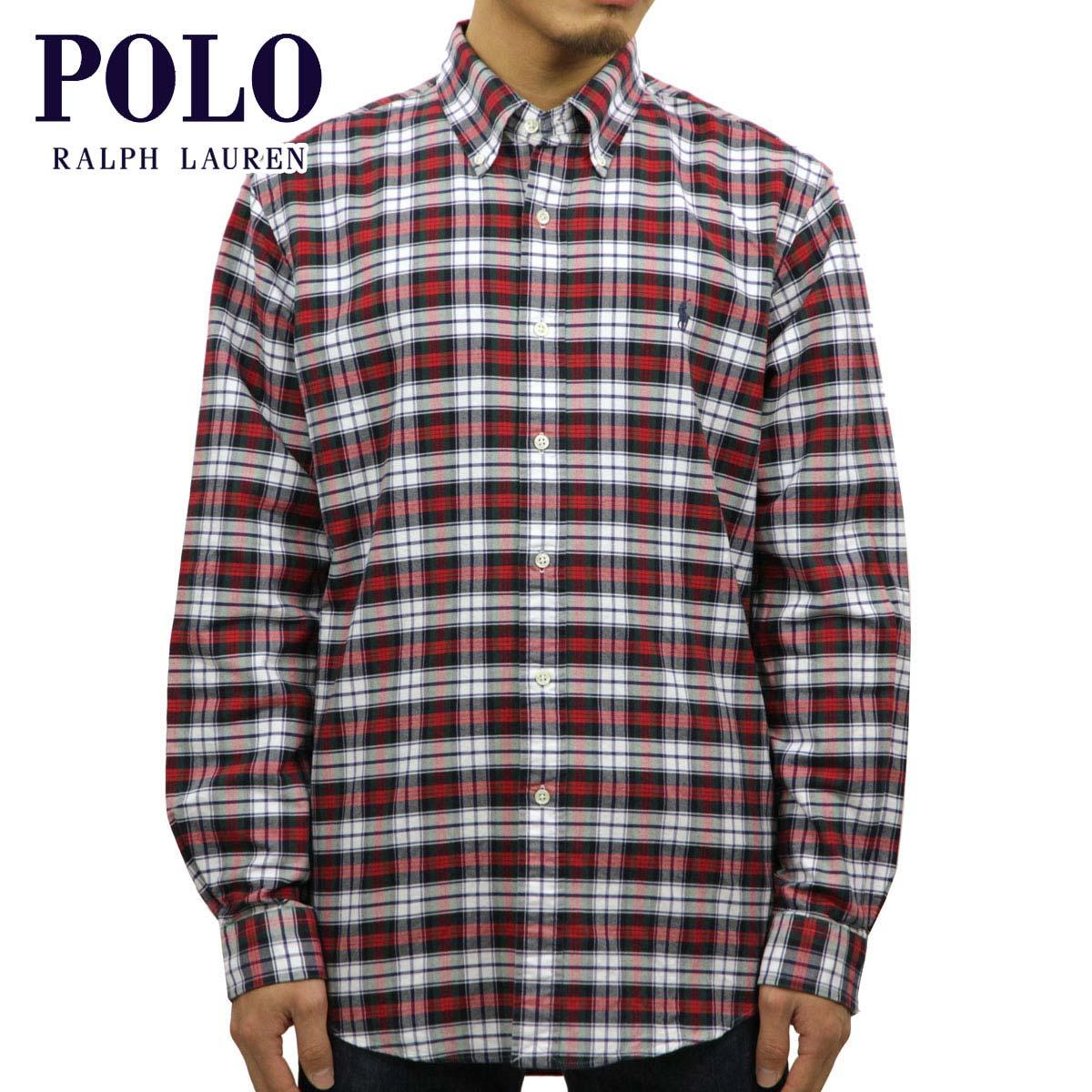 40%OFFセール 【販売期間 12/19 20:00~12/26 01:59】 ポロ ラルフローレン シャツ メンズ 正規品 POLO RALPH LAUREN 長袖シャツ Custom-Fit Plaid Oxford Checked Shirt