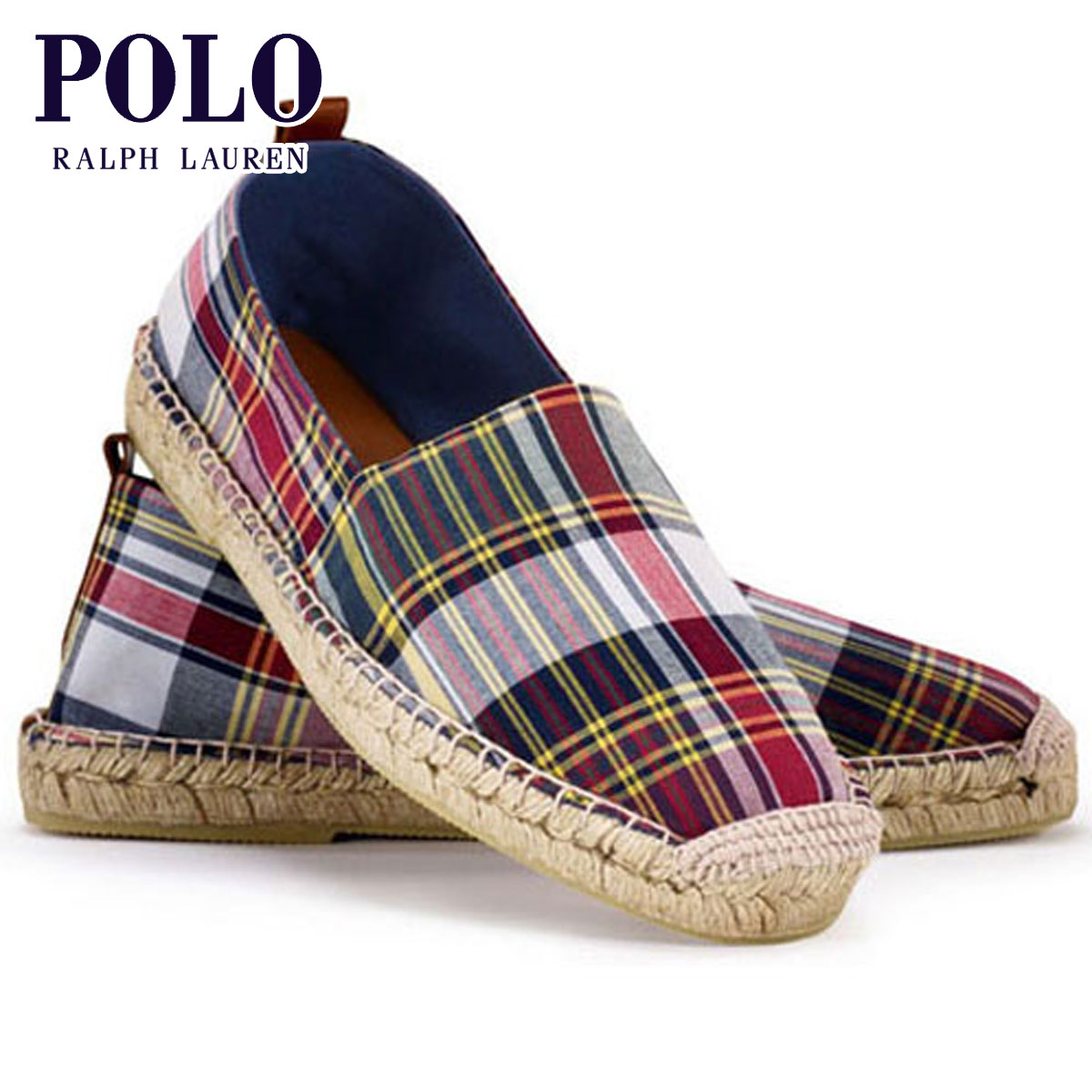 Polo Ralph Lauren POLO RALPH LAUREN genuine men s shoes shoes Madras  Espadrille 59c40a9f65f8