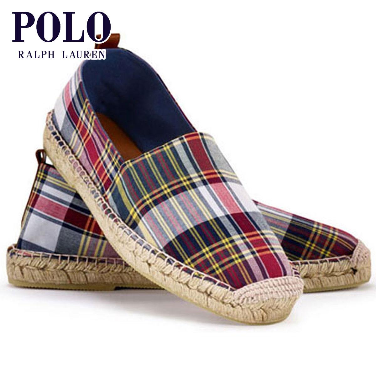 【販売期間 4/2 10:00~4/8 09:59】 ポロ ラルフローレン POLO RALPH LAUREN 正規品 メンズ 靴 シューズ Madras Espadrille D20S30