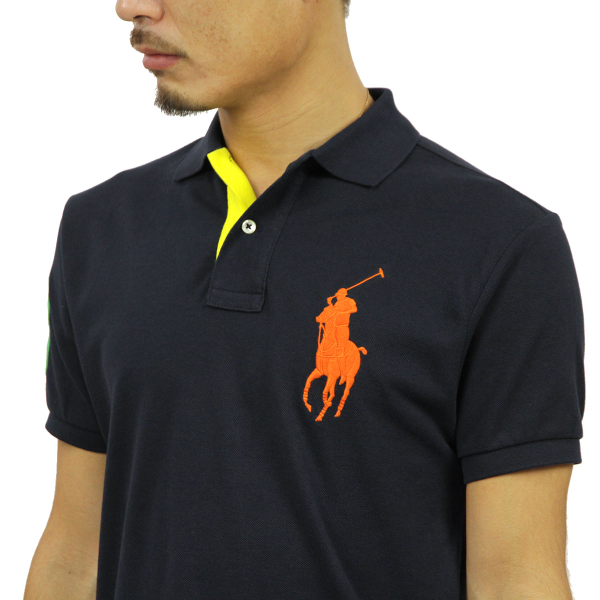 Polo Ralph Lauren POLO RALPH LAUREN genuine mens polo shirt CUSTOM-FIT BIG  PONY POLO