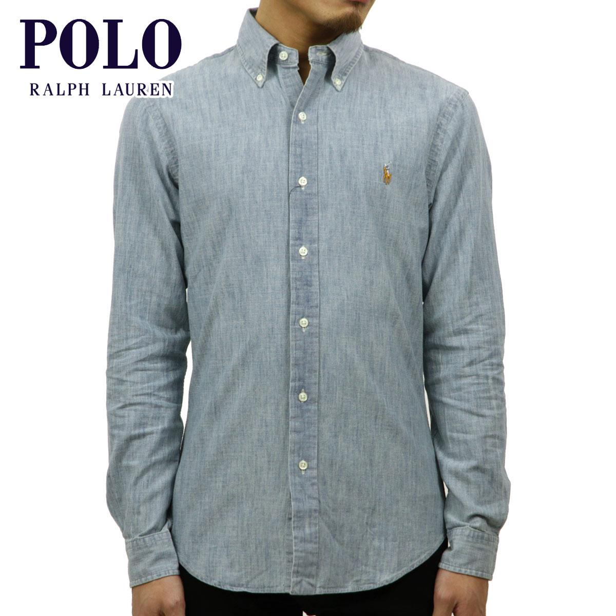 ポロ ラルフローレン POLO RALPH LAUREN 正規品 メンズ 長袖シャツ Slim-Fit Chambray Shirt D00S20