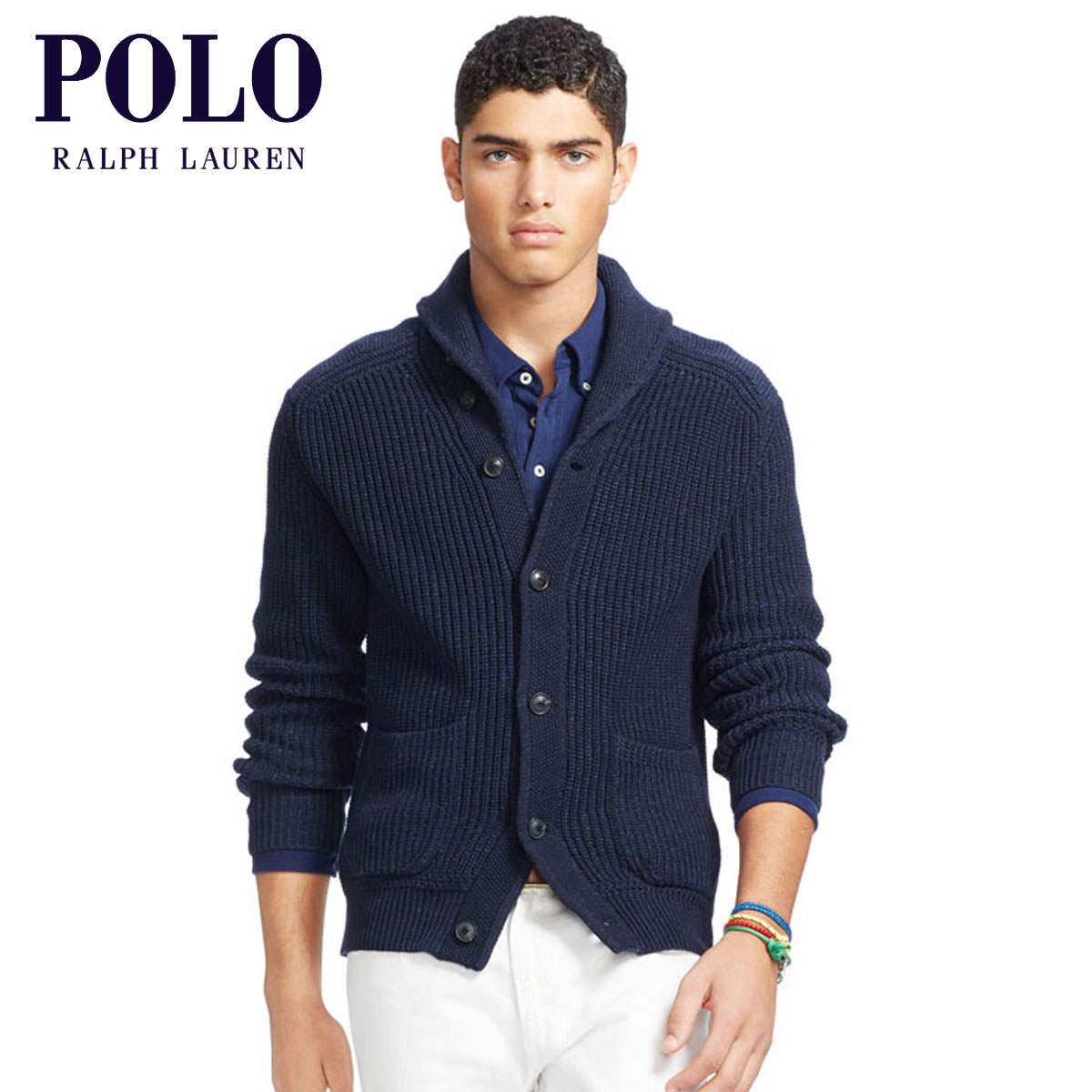 2d3f53a4e009 Polo Ralph Lauren POLO RALPH LAUREN regular article men cardigan COTTON  SHAWL-COLLAR CARDIGAN D00S20 ...