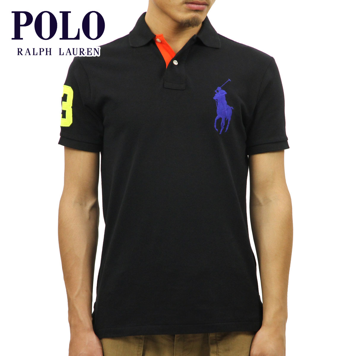 Ralph Lauren Men's Big Pony Short Sleeved Shirts Black