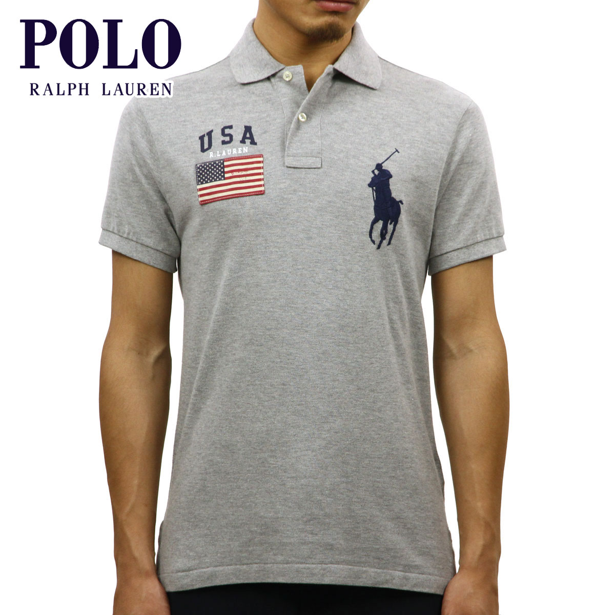 21922f29d Polo Ralph Lauren POLO RALPH LAUREN regular article men short sleeves polo  shirt CUSTOM-FIT ...