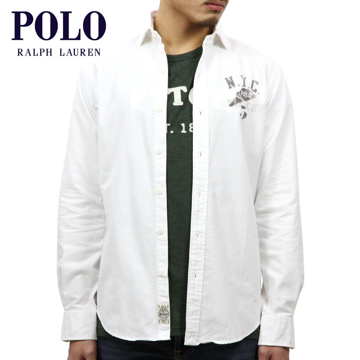 ポロ ラルフローレン POLO RALPH LAUREN 正規品 メンズ 長袖ワークシャツ COTTON OXFORD NYC GRAPHIC SHIRT