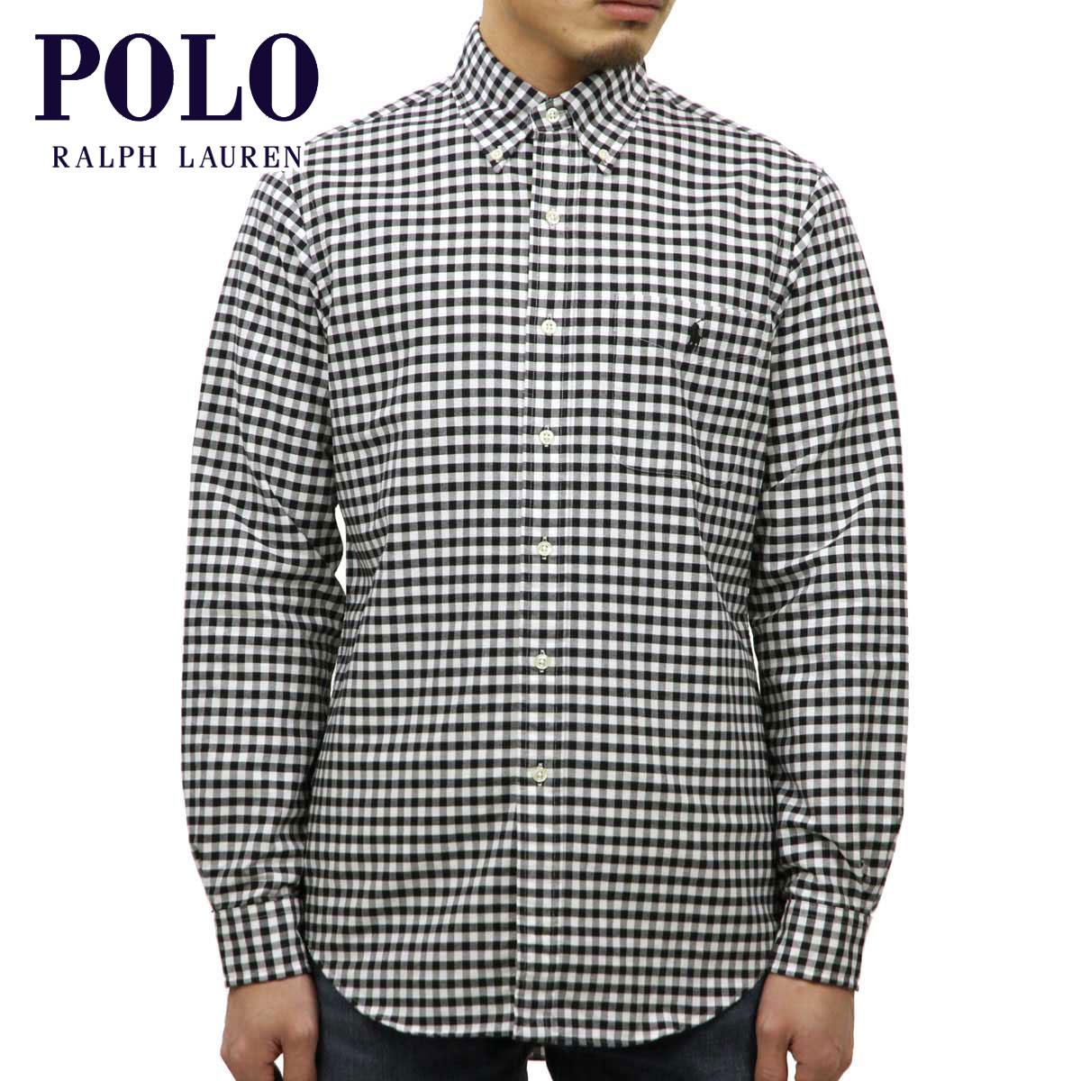 fbc95dc8 Polo Ralph Lauren shirt men's regular article POLO RALPH LAUREN long  sleeves shirt button-down shirt BUTTON DOWN GINGHAM CHECK SHIRTS