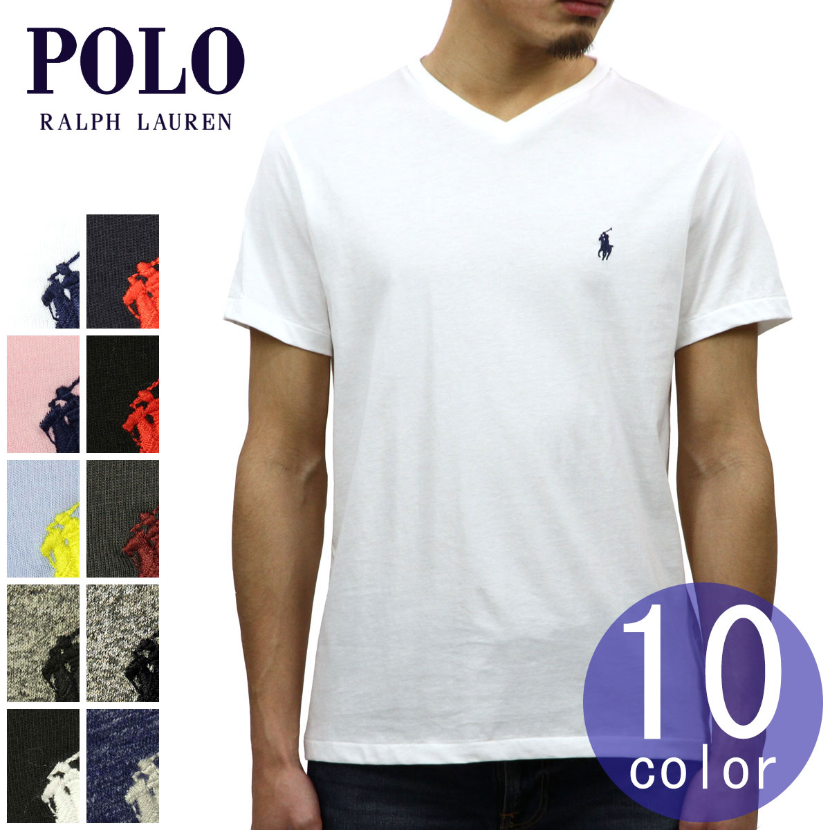20b08058 Entering polo Ralph Lauren POLO RALPH LAUREN regular article men V neck one  point embroidery short ...