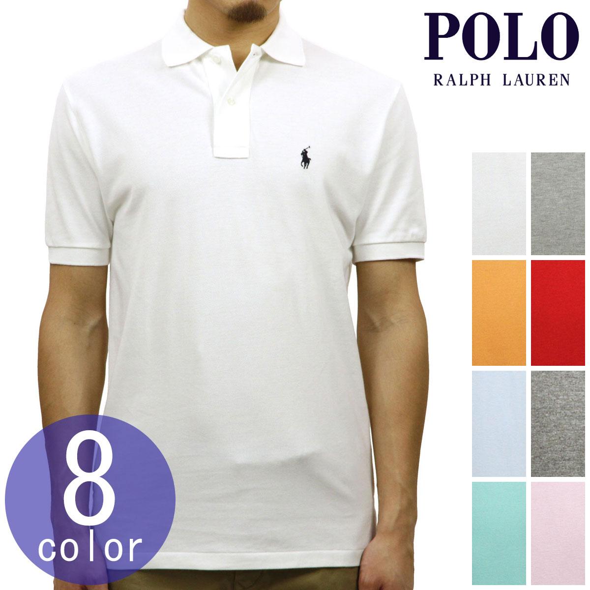 ポロ ラルフローレン POLO RALPH LAUREN 正規品 メンズ ビッグポニー カスタムフィット 半袖ポロシャツ CUSTOM SLIM COTTON MESH POLO