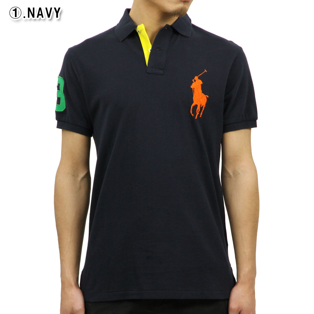 d5b32845 Polo Ralph Lauren POLO RALPH LAUREN regular article men big pony custom  fitting short sleeves polo shirt CUSTOM SLIM COTTON MESH POLO