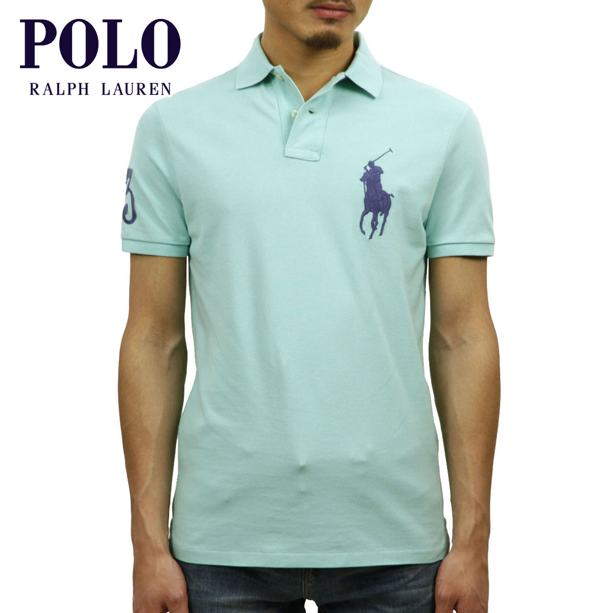 e358f08af398c Polo Ralph Lauren POLO RALPH LAUREN regular article men custom slim fitting  big pony short sleeves ...