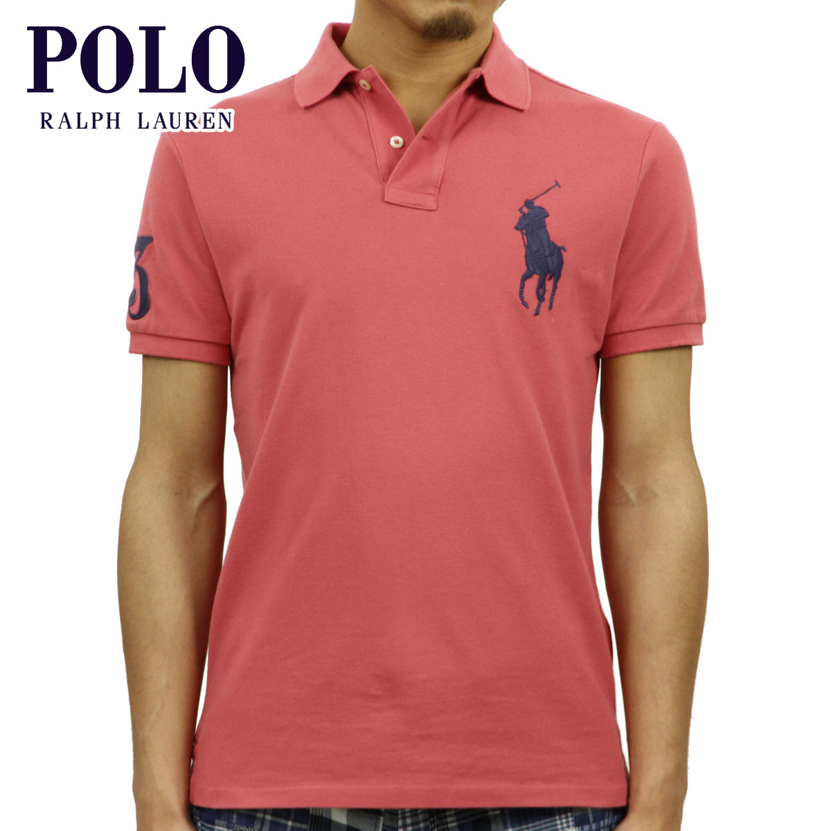 a90c4b96 Polo Ralph Lauren POLO RALPH LAUREN regular article men custom slim fitting  big pony short sleeves ...