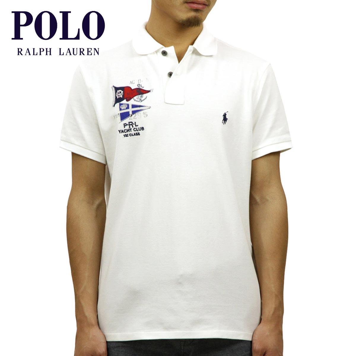 ポロ ラルフローレン POLO RALPH LAUREN 正規品 メンズ カスタムフィット 半袖ポロシャツ FLAG CUSTOM FIT COTTON MESH POLO