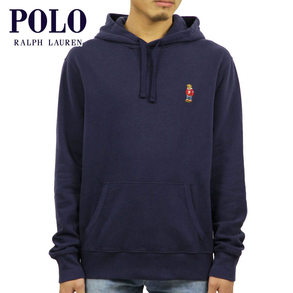 sale retailer e96b4 79f88 Polo Ralph Lauren parka men's regular article POLO RALPH LAUREN pullover  parka POLO BEAR FLEECE HOODIE